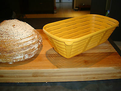"Oblong Brotform Banneton 10"" Bread Proofing Basket Bakery - Plastic Food Safe"