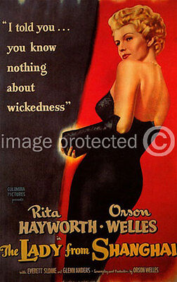 The Lady From Shanghai Vintage Movie Poster  18x24