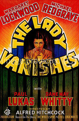 The Lady Vanishes Vintage Alfred Hitchcock Movie Poster 18x24