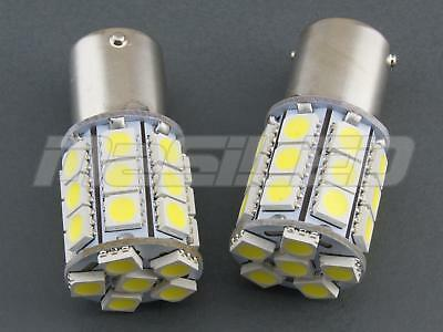 2 bombillas LED BA15S P21W 27 SMD 5050 color blanco puro 5000K