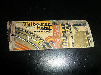 VINTAGE MELBOURNE HOTEL GRAND & LINDELL BLVD ST LOUIS MO ADVERTISING MATCHBOOK!