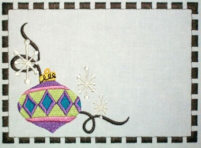 Christmas Ornament Quilt Label Customize for quilt tops or blocks