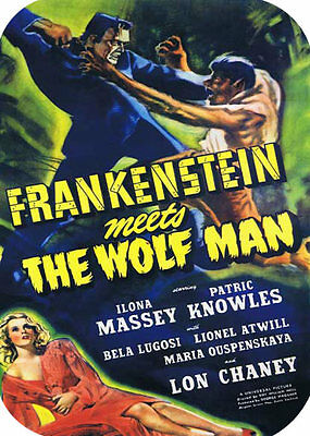 Frankenstein Meets the Wolf Man Movie MOUSE PAD