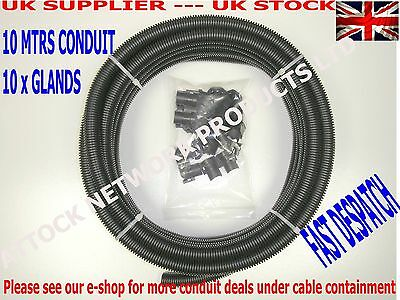 25mm CONTRACTOR PACK KOPEX FLEXIBLE CONDUIT  10 MTR PLUS 10 GLANDS LSZH