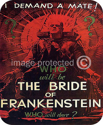 The Bride of Frankenstein Horror Movie MOUSE PAD