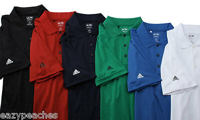 ADIDAS GOLF Mens S-3XL Climalite dri fit Moisture Pique Wicking Polo Sport Shirt