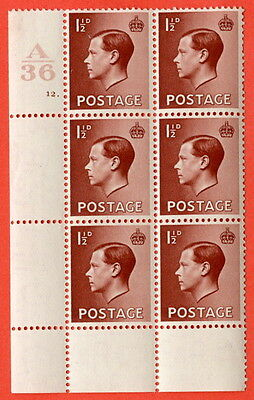 SG. 459. P3. 1½d Red-brown. UNMOUNTED MINT. Control  A36 cylinder 12 dot.