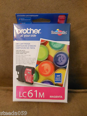 Genuine Brother LC61M LC61 Magenta Ink Cartridge