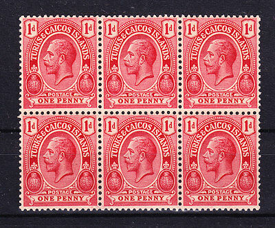 Turks & Caicos Islands 1921 - Sc# 38 In Block Of 6 Mint Never Hinged