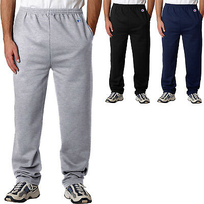 0cda97be78d7 Champion Mens Sweatpants with Pocket and Open Bottom AND Pockets S-2XL