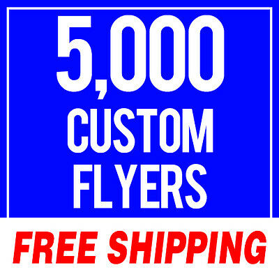 5000 Full Color Flyers Large 8.5 x 11 High Gloss Aqueous Coated 100lb 2 Sided