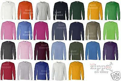 Fruit of the Loom Heavy Cotton Long Sleeve T-Shirt 4930R S-3XL NEW
