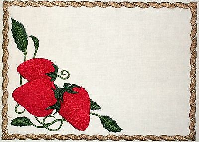 Strawberry Embroidered Quilt Label Customize for quilt tops or blocks