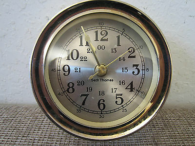 "Maritime, ""Seth Thomas"" Brass Boat Deck Clock"
