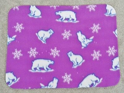 Fleece Standard (Twin) Pillow Cover - Polar Bears & Snowflakes On Fushia