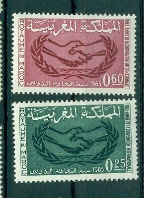 EMBLEMI - EMBLEMS MOROCCO (Kingdom) 1965 Cooperation Year