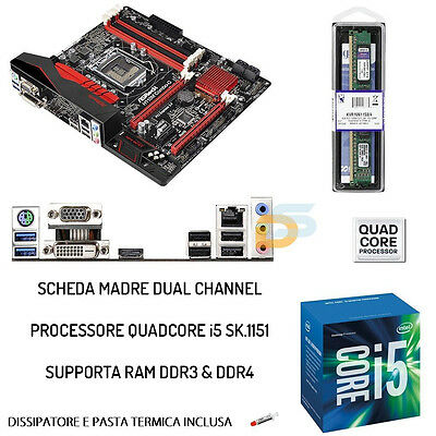 Upgrade Scheda Madre Full + Cpu Intel Quad-Core I5 + Ram 8Gb Ddr3/ddr4 Bundle
