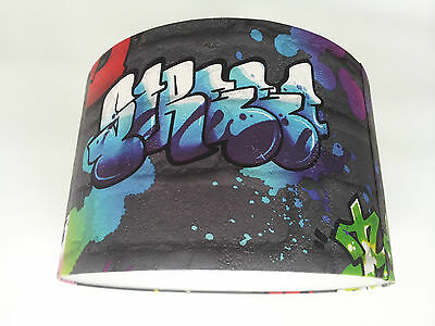 Graffiti Multicolour Lampshade Handmade.(RASCH)