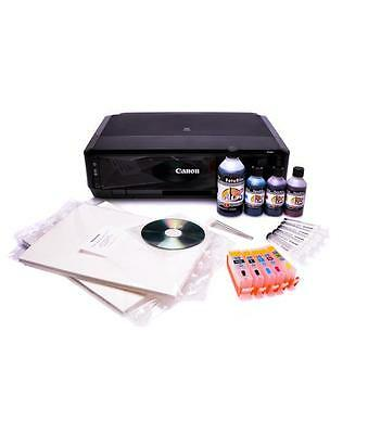 EDIBLE INK STARTER KIT with refillable cartridges, edible ink, & 25 wafer paper