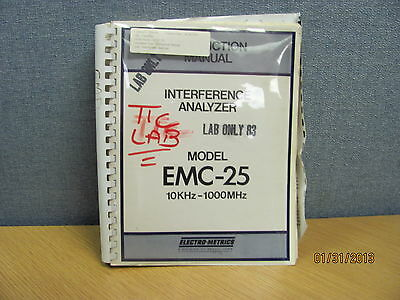 FAIRCHILD MODEL EMC-25: Interference Analyzer - Instruction Manual w/schematics