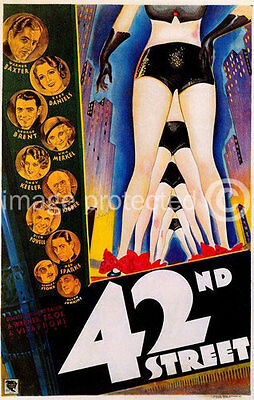 42nd Forty Second Street Vintage Movie 11x17 Poster