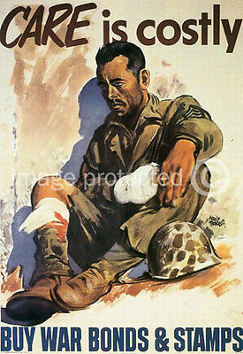 Care Is Costly World War Two US Military Vintage 11x17 Poster