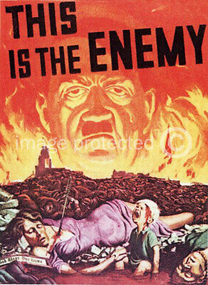 This Is The Enemy Hitler World War Two US Military Vintage Repro 11x17 Poster