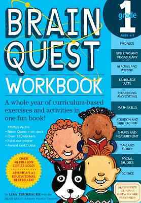 Brain Quest Grade 1 Workbook [With Stickers] - Paperback NEW Trumbauer, Lisa 200