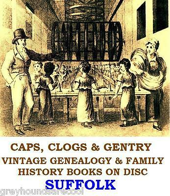 Suffolk Genealogy Registers History Topography 55 Vintage Books on Data Disc
