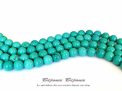 5/10/15/20/25/30/50 Perles Turquoise 6/8/10mm - Turquoise Pas Cher