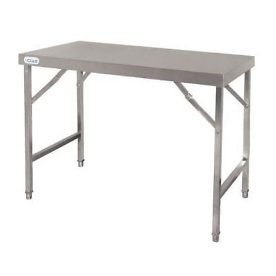 Folding Table Workbench 900x1800x600mm Stainless Steel Foldable Mobile Catering