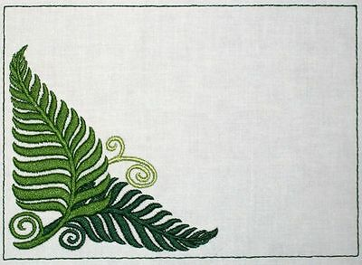 Ferns Embroidered Quilt Label Customize for quilt tops or blocks