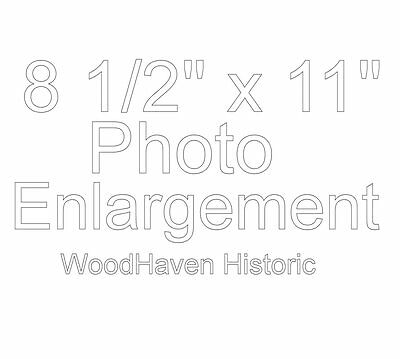 "8 1/2"" x 11"" PHOTO ENLARGEMENT - Please Read Description before ordering"