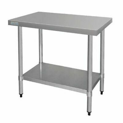 Stainless Steel Bench 900x900x600mm, Undershelf, Commercial Kitchen Equipment