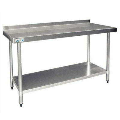 Stainless Steel Bench 900x1500x600mm Undershelf & Splashback Commercial Kitchen