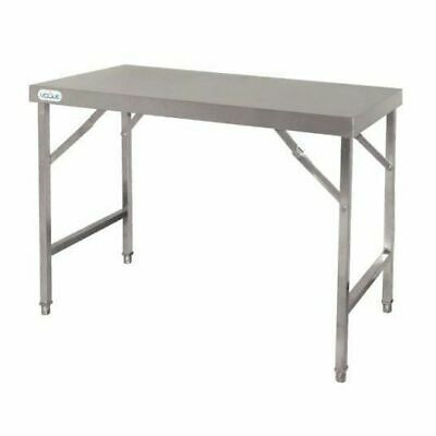 Folding Table, Stainless Steel, Fold Away Ideal for Outdoors, 900 x 1200 x 600mm