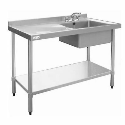 Sink with Drainer 900x1000x600mm, Right, Commercial Stainless Steel Kitchen
