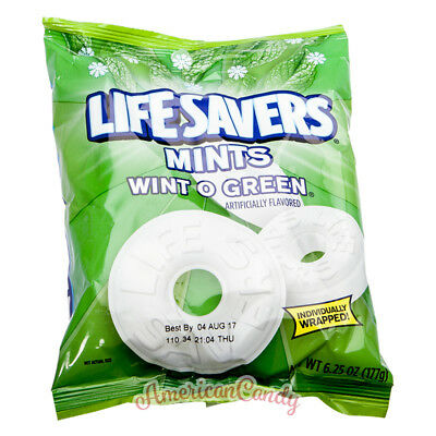 3x 177g Lifesavers Hard Candy USA Bonbons Wint o green & 5 Flavors (33,87/kg)