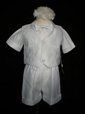 Baby Boy Communion Christening Baptism Outfit Suit set w/cap size XS -XL (0-24M)