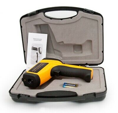 New Non-Contact IR Infrared Digital Thermometer -18ºC to 1150ºC Free Hard Case