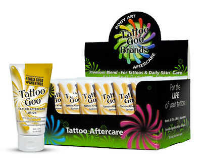 TATTOO GOO AFTERCARE Lotion 2oz Moisturize Skin Heals Soothes Tattoo Supply