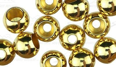 "50) 3/32"" BRASS BEADS color: GOLD ( 2.4mm ) fly tying"