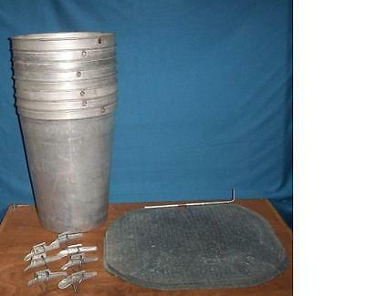 10 MAPLE SYRUP Aluminum SMOOTH Sap Buckets + Lids COVERS + TAPS Spiles Spouts