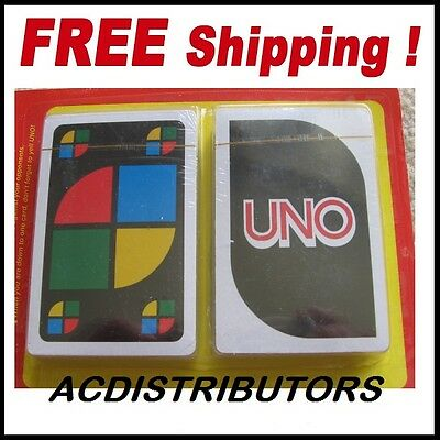 "UNO Playing Cards 2 or more PLAYERS ""New Uno Cards 2Pk"" Family Fun"