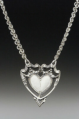 Marquis Spoon Heart Necklace w/ Chain by Silver Spoon Jewelry-FABULOUS !