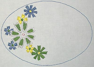 Floral Embroidered Quilt Label Customize for quilt tops or blocks