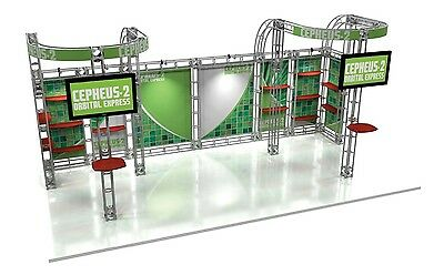 Be Different - New Deluxe Modern Truss 10 X 20 Trade Show Ez Setup Display Booth