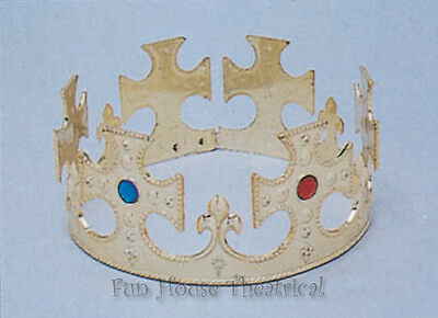 Renaissance Medieval Royal King Crown Halloween Costumes Accessory 65126