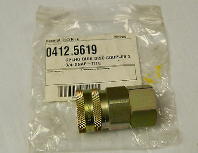 """NEW SNAP-TITE QUICK CONNECT COUPLER SOCKET HYDRAULIC VHC-12 3/4"""" NPT FEMALE"""