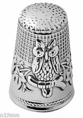 New Ari D Norman Sterling Silver Sewing Owl Thimble Gift Box Birthday Mother Day